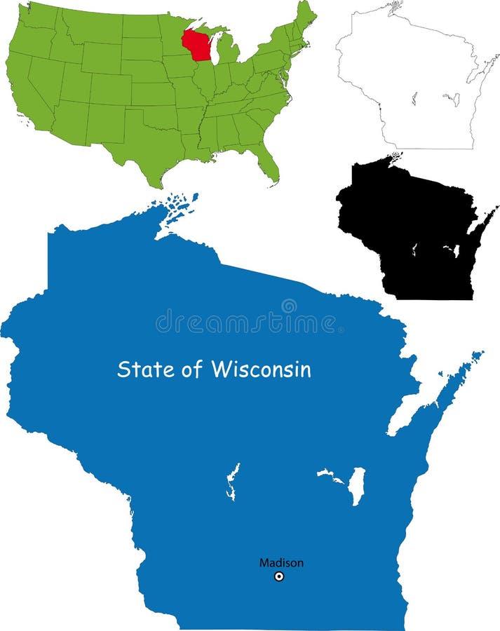 Estado de Wisconsin, EUA ilustração royalty free