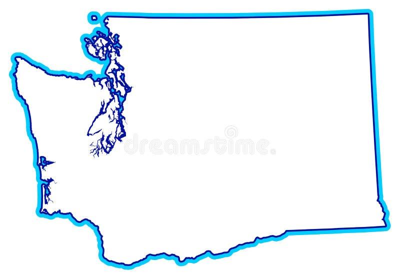 Estado del esquema de Washington ilustración del vector