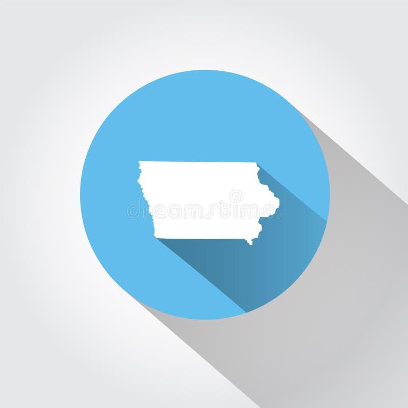 Estado del mapa de Iowa stock de ilustración