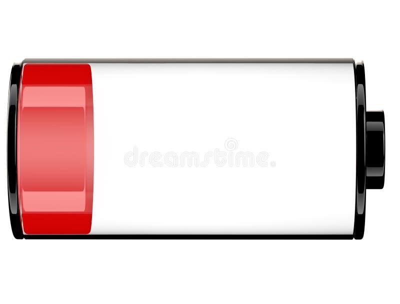 Estado 20 do ícone da bateria 3d ilustração do vetor