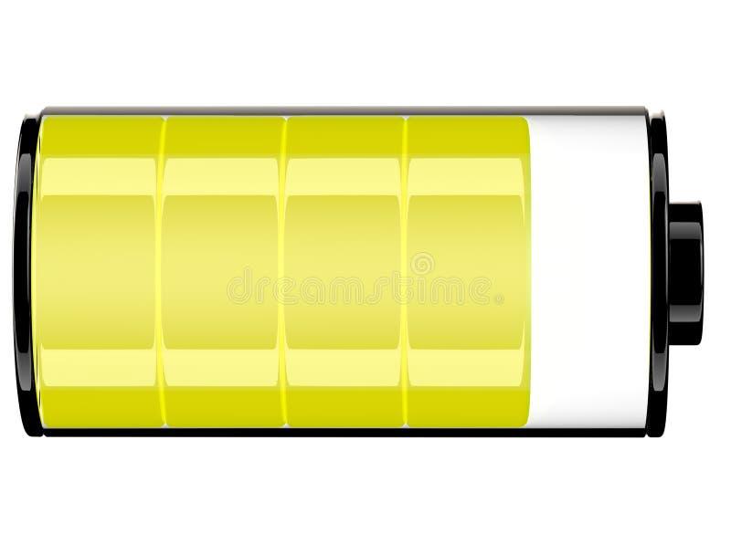 Estado 80 do ícone da bateria 3d ilustração royalty free