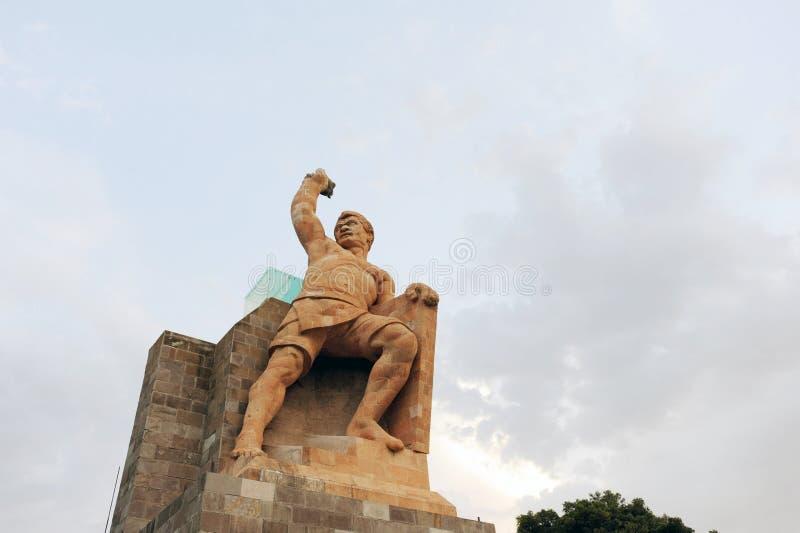 Estado do monumento de Pipila em Guanajuato, México imagens de stock royalty free