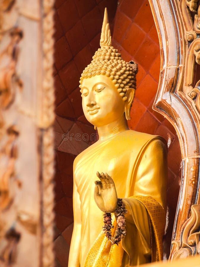Estado ereto da Buda Pagode do estilo da imagem da Buda fotografia de stock royalty free