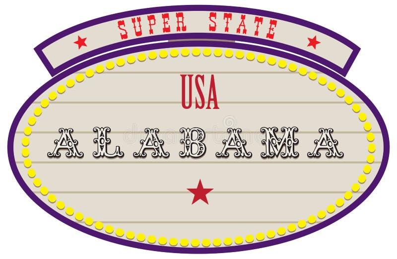 Estado estupendo los E.E.U.U. - Alabama stock de ilustración