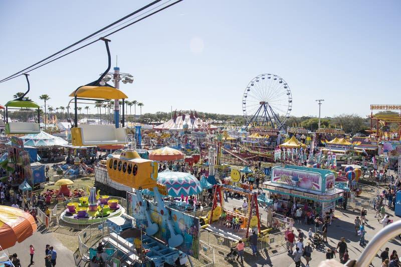 Estado justo, carnaval de Florida imagens de stock