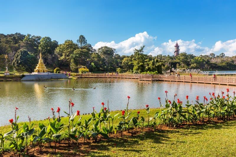 Estado nacional Myanmar de Pyin Oo Lwin Mandalay dos jardins de Kandawgyi fotografia de stock royalty free