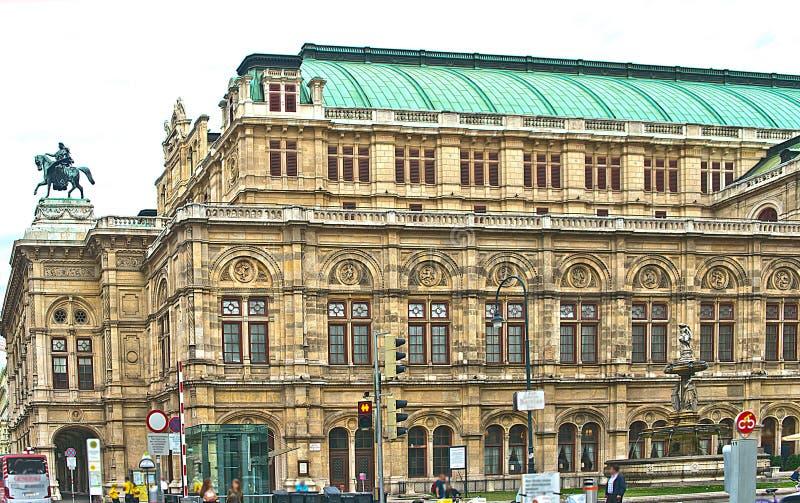 Estado Opera de Viena, Áustria fotografia de stock royalty free