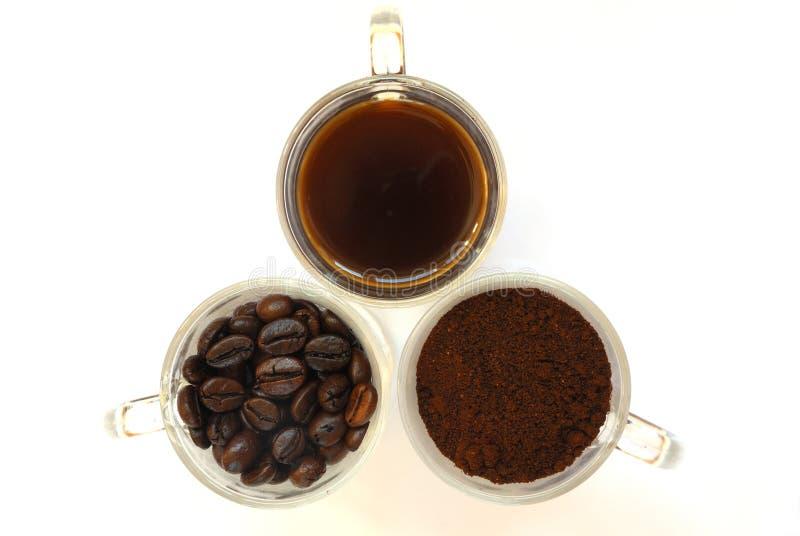 Estado três de café imagem de stock royalty free