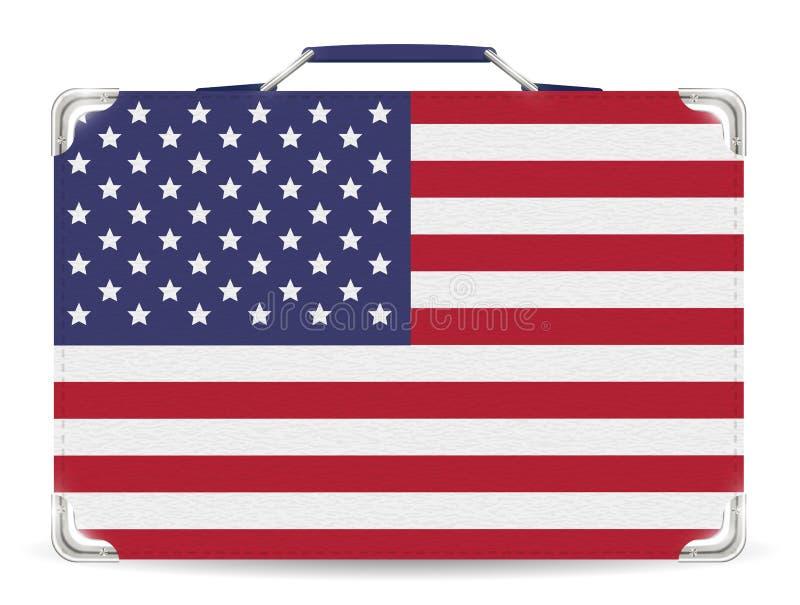 Estado unido del bolso del viaje de la maleta de la bandera de América libre illustration