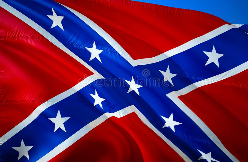 Estados confederados de la bandera de América Bandera nacional histórica de los estados de América confederados Conocido como bat ilustración del vector