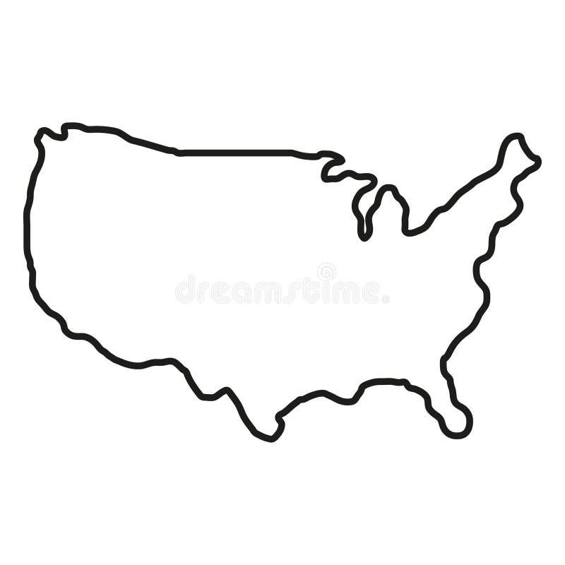 Estados del territorio de Am?rica en el fondo blanco Correspondencias de im?genes de la NASA Ilustraci?n del vector libre illustration