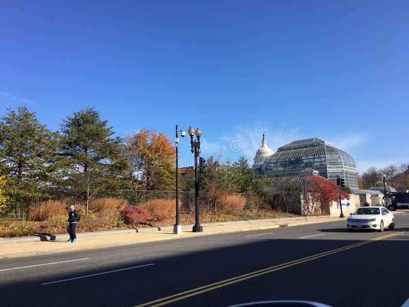 Estados Unidos Capitol Hill en la caída fotografía de archivo libre de regalías