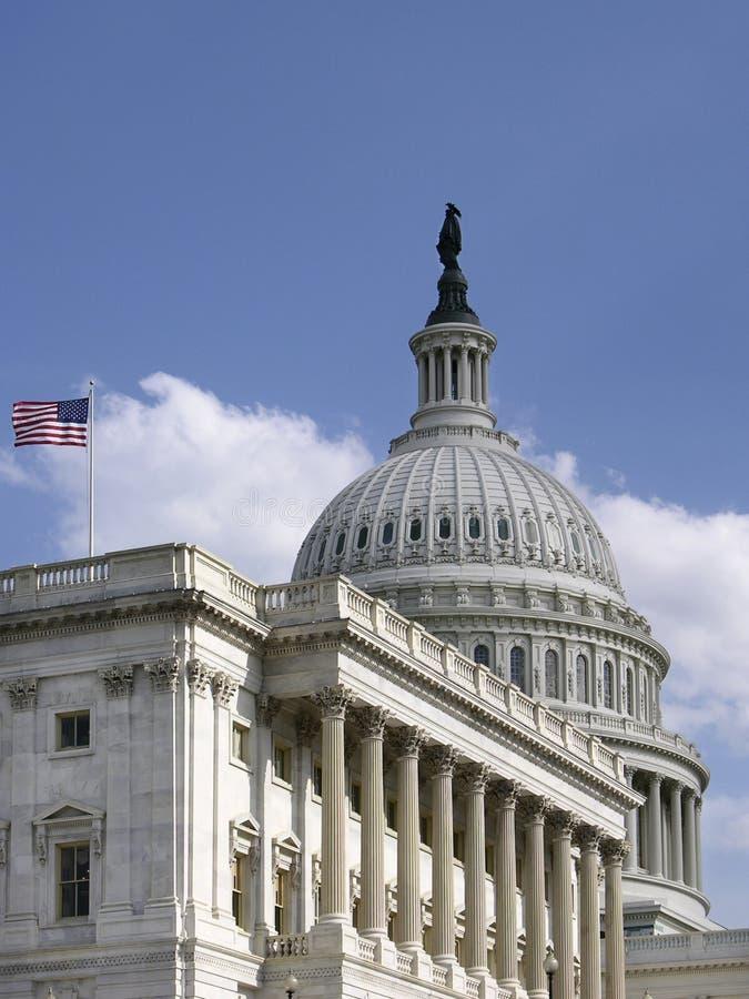 Estados Unidos Capitol_Side Vie imagens de stock