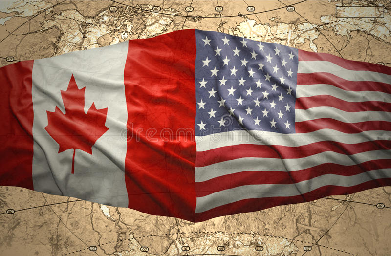 Estados Unidos da América e Canadá ilustração royalty free