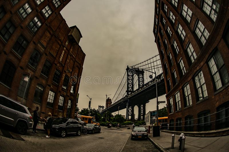 Estados Unidos da ponte de Manhattan, Brooklyn imagem de stock