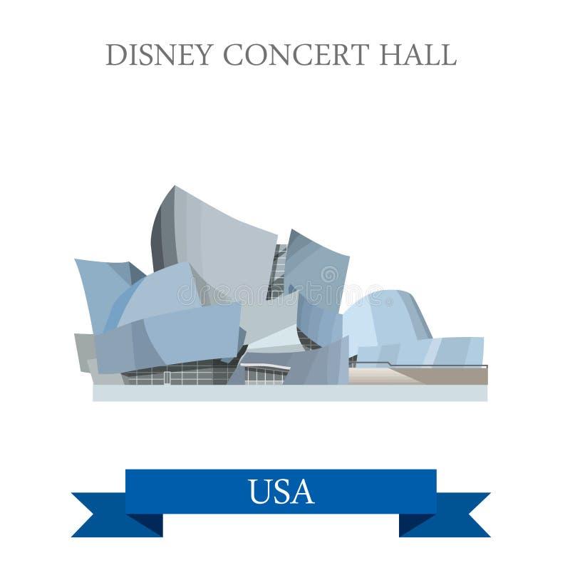 Estados Unidos de Walt Disney Concert Hall Los Angeles ilustração do vetor