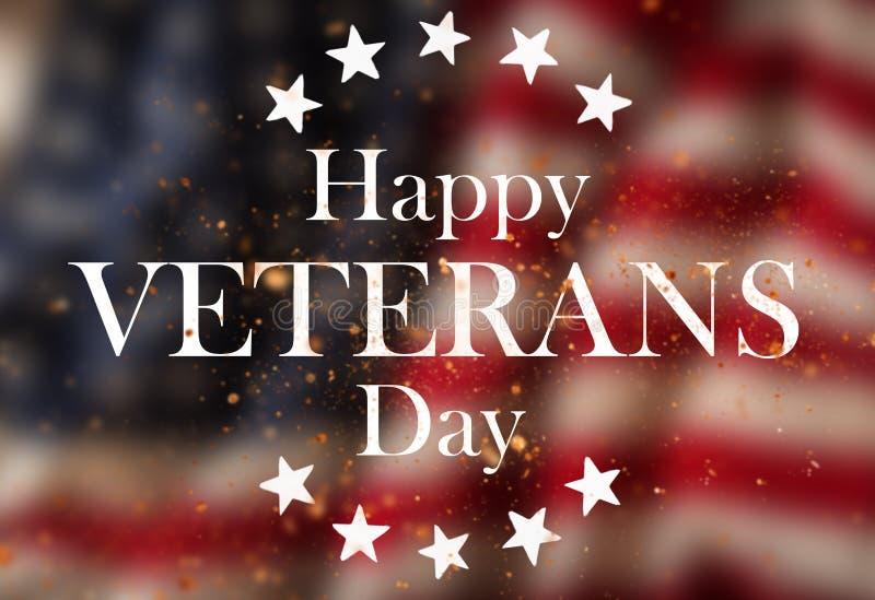 Estados Unidos embandeiram Conceito do dia de veteranos fotografia de stock royalty free