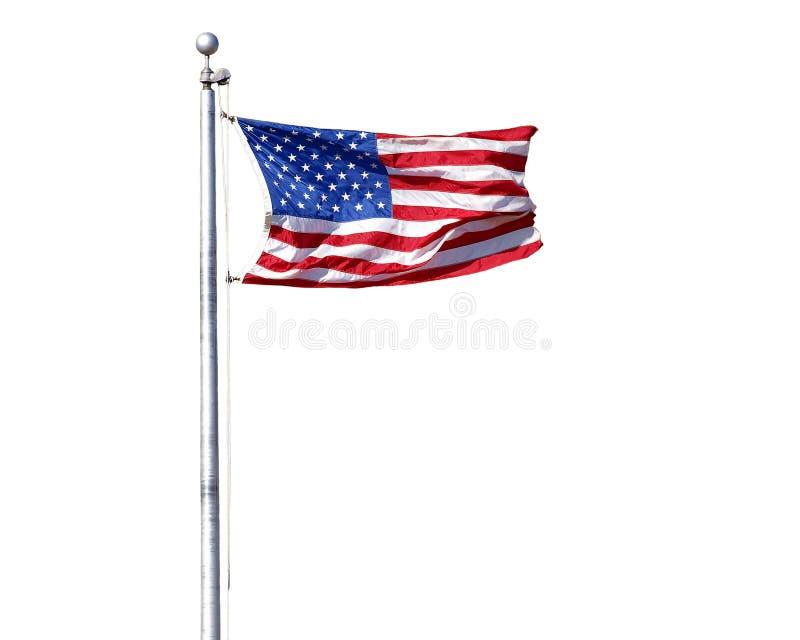 Estados Unidos embandeiram isolado imagem de stock
