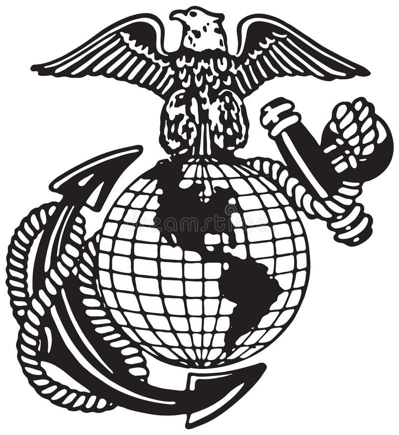 Estados Unidos Marine Corps ilustração royalty free