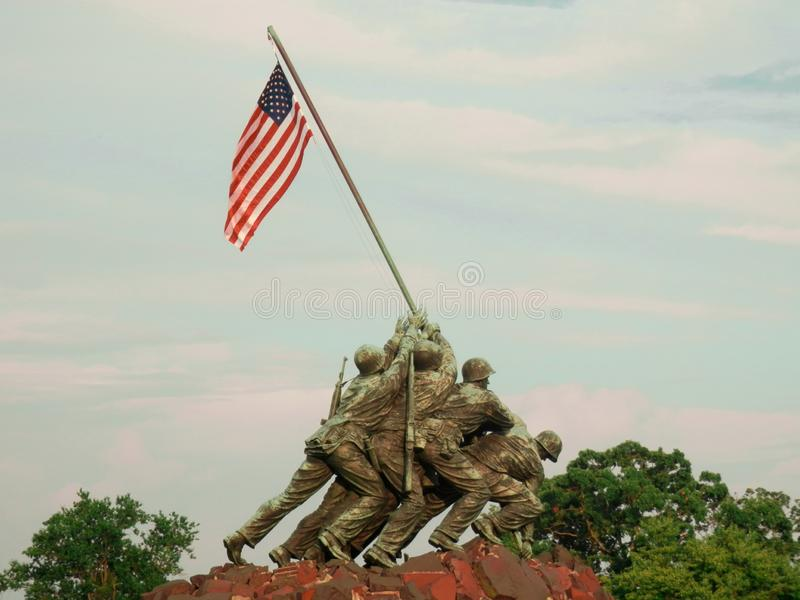 Estados Unidos Marine Corps War Memorial foto de archivo