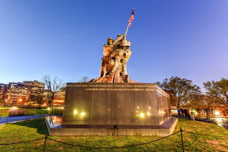 Estados Unidos Marine Corps War Memorial imágenes de archivo libres de regalías