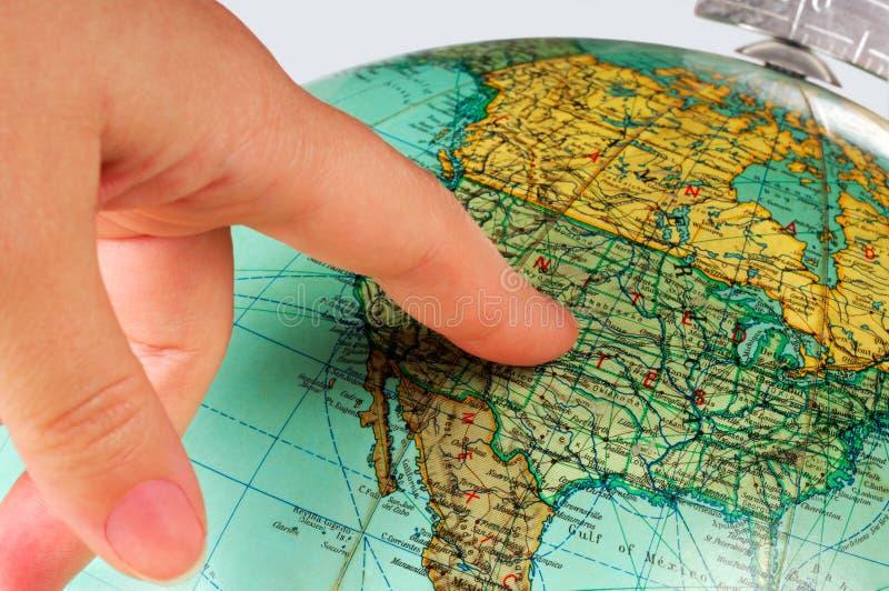 Estados Unidos no globo imagem de stock royalty free