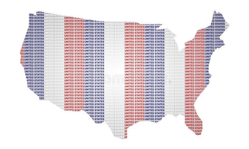 Estados Unidos no projeto da tipografia fotografia de stock