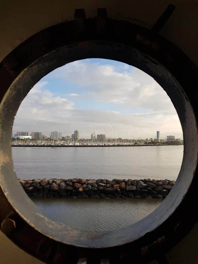 Estados Unidos, porto, água fotografia de stock