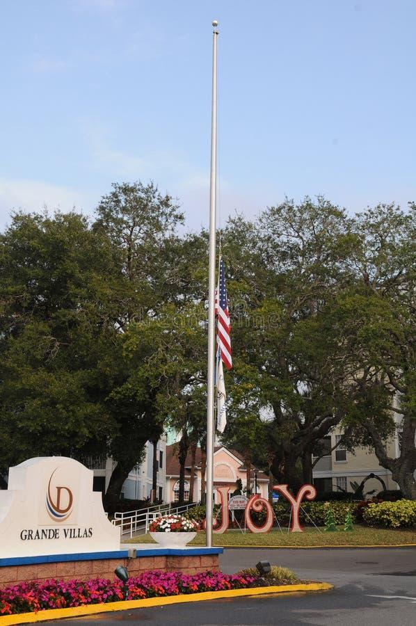 Estados Unidos señalan por medio de una bandera en el medio personal el 7 de diciembre de 2017 fotos de archivo libres de regalías