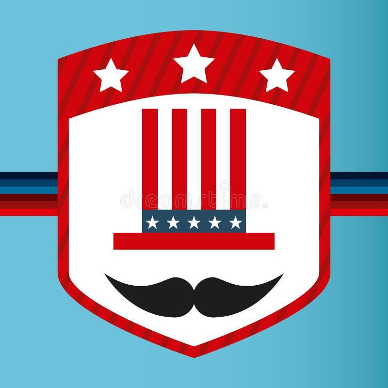 Estados Unidos simbolizan ilustración del vector