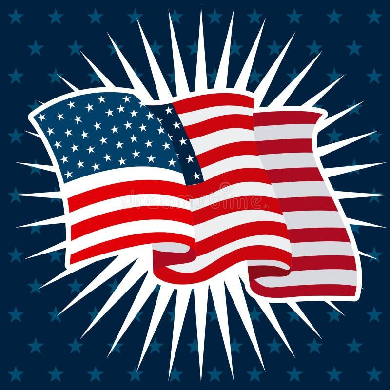 Estados Unidos simbolizan stock de ilustración