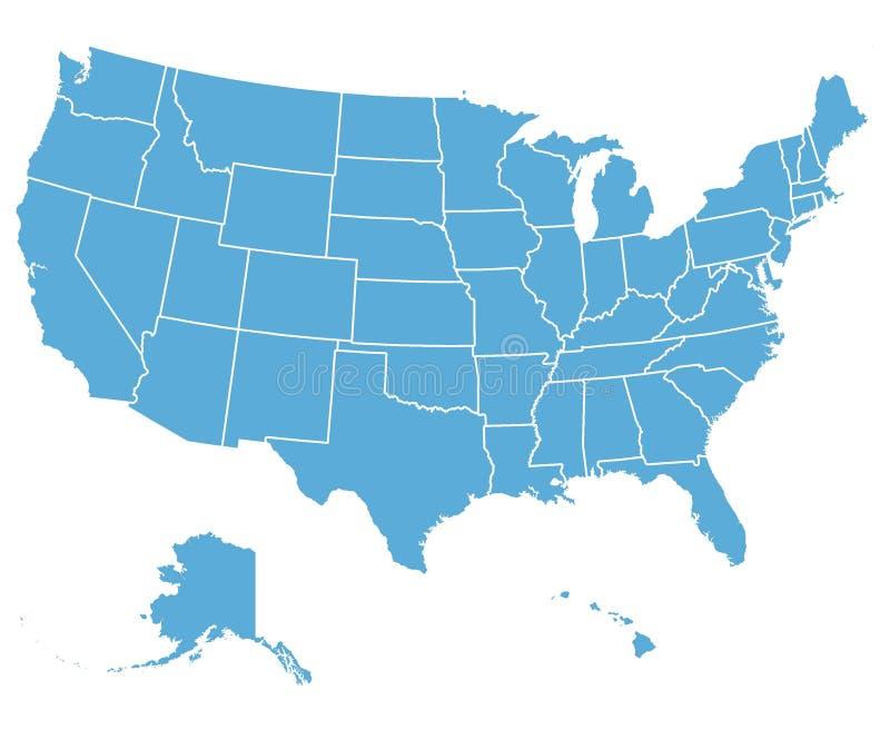 Estados Unidos Vector la correspondencia ilustración del vector