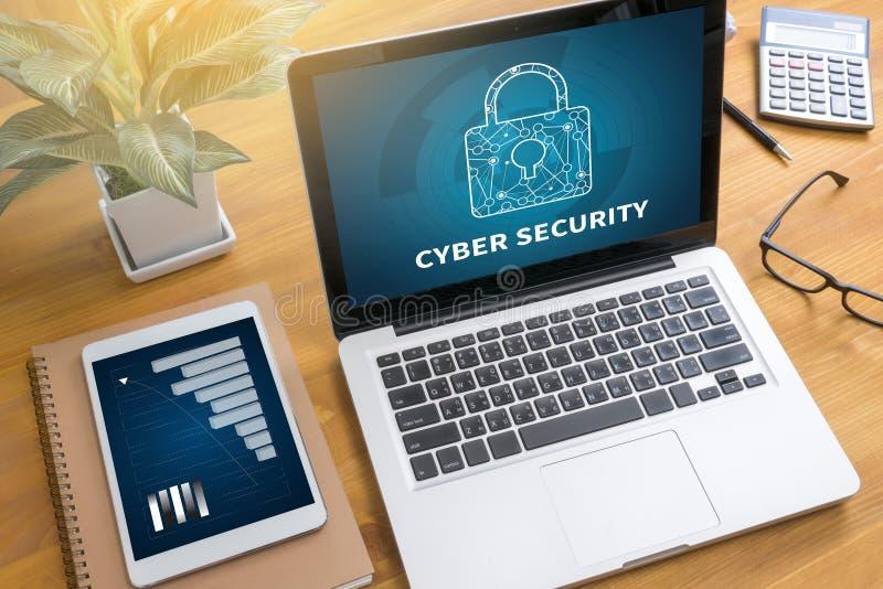 Estafa CIBERNÉTICA del negocio de SEGURIDAD, de la tecnología, de Internet y del establecimiento de una red imágenes de archivo libres de regalías