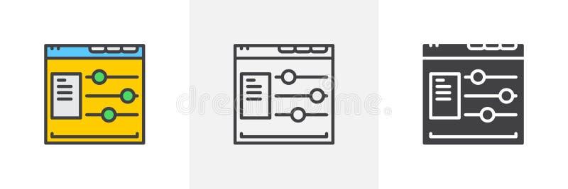 Estafa de las opciones del sitio web ilustración del vector