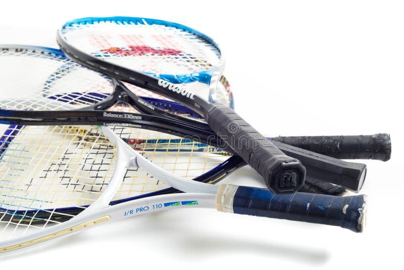 Estafa de tenis clasificada fotografía de archivo