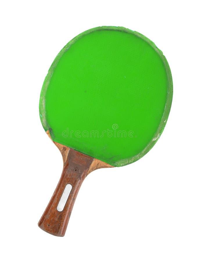 Estafa del ping-pong aislada en el fondo blanco fotos de archivo
