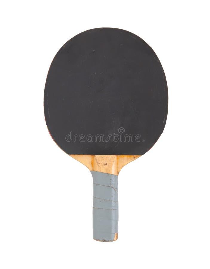 Estafa del ping-pong aislada en el fondo blanco fotografía de archivo