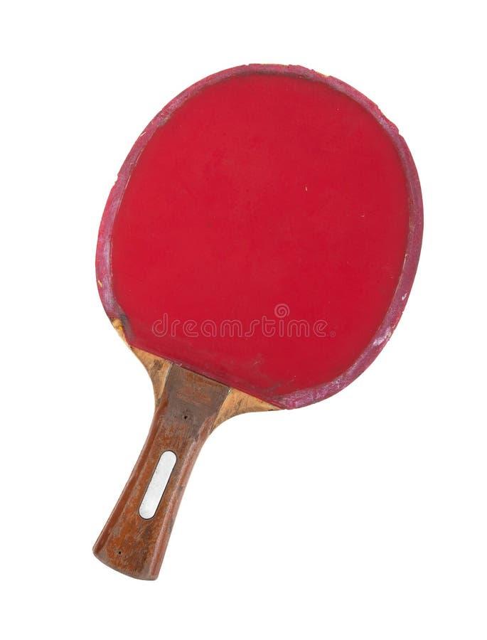 Estafa del ping-pong aislada en el fondo blanco imágenes de archivo libres de regalías