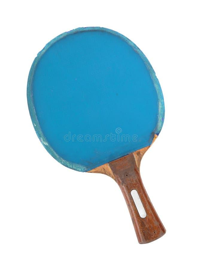 Estafa del ping-pong aislada en el fondo blanco imagen de archivo