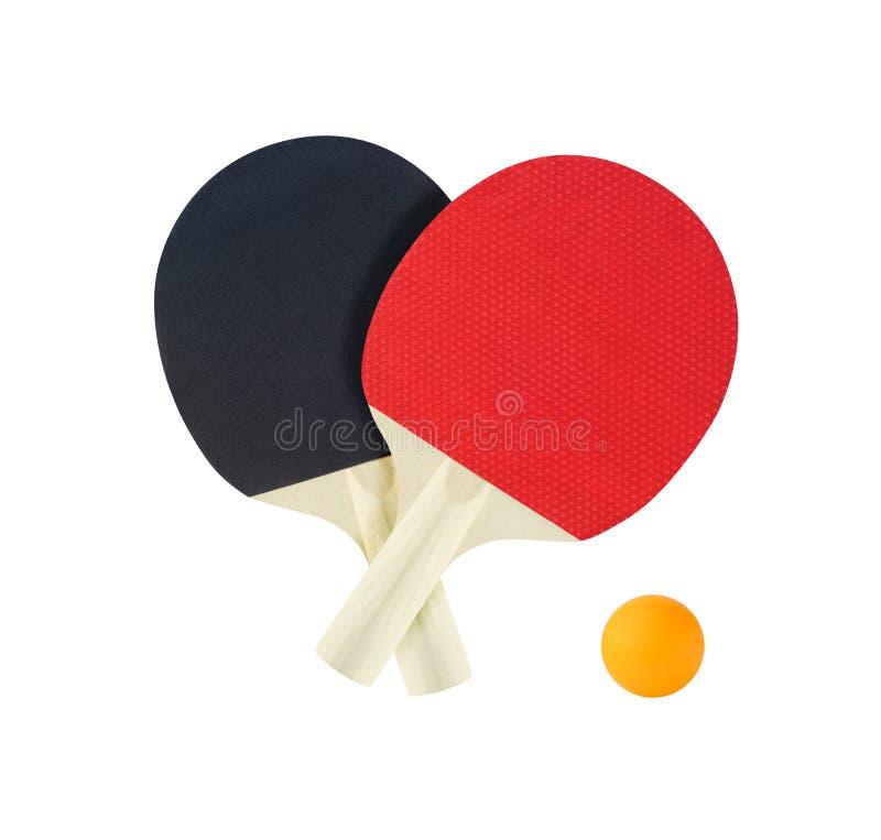 Estafas de la tabla del tenis para el ping-pong foto de archivo libre de regalías