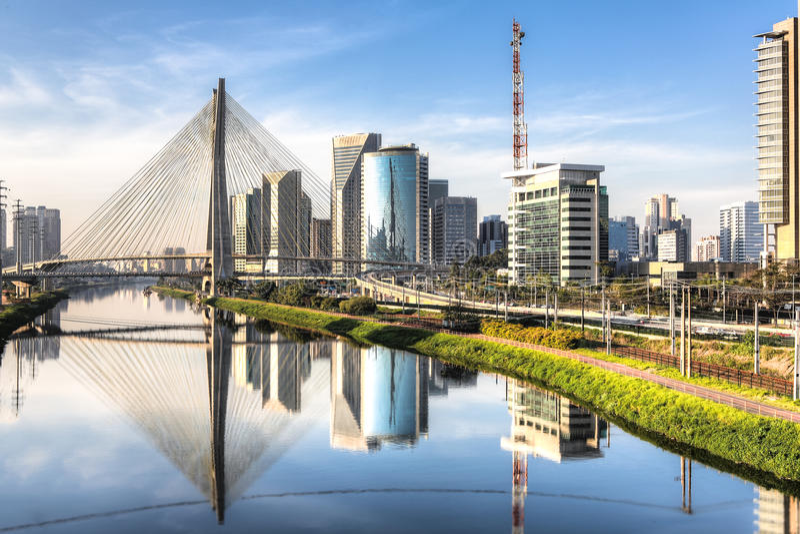 Estaiada Bridge - Sao Paulo - Brazil royalty free stock images