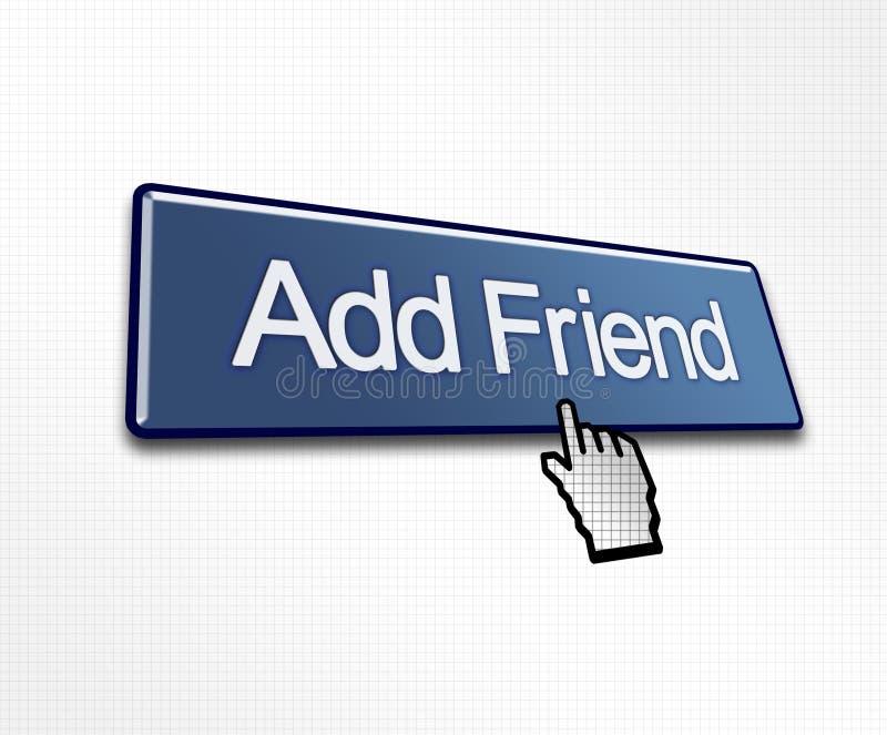 Estalado adicione a tecla do amigo ilustração stock
