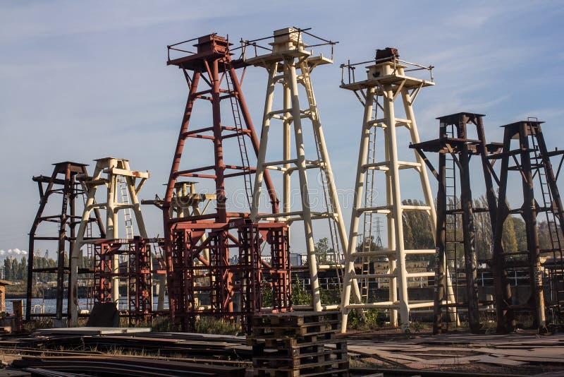Estaleiro de Gdansk fotografia de stock