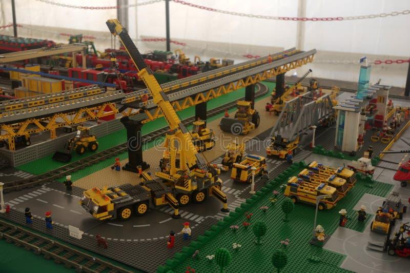 estaleiro de Lego imagem de stock