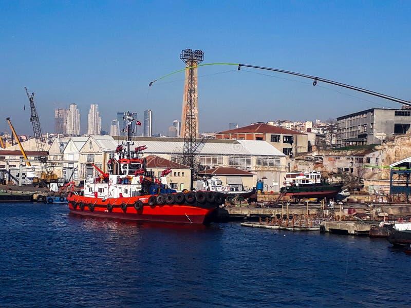 Estaleiro dourado Istambul do chifre foto de stock royalty free