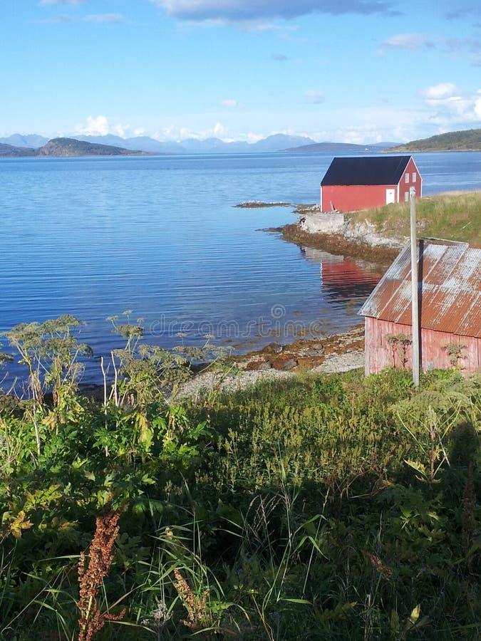 Estaleiro fora de Harstad Noruega imagens de stock