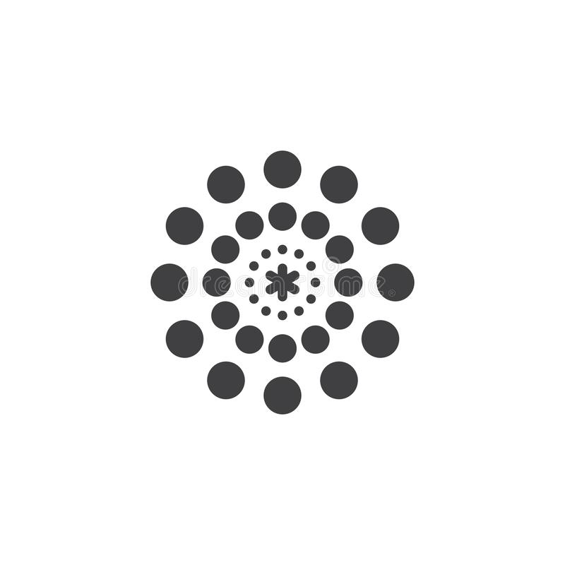 Estallar el icono del vector de los fuegos artificiales libre illustration