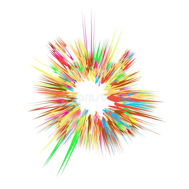 Estalle el flash, explosión de la historieta, explosión de la estrella ilustración del vector
