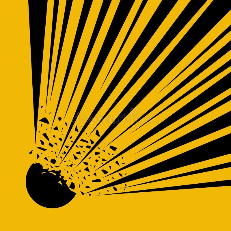Estalle el flash, explosión de la historieta Símbolo a presión internacional del peligro del cilindro, icono peligroso amonestado libre illustration