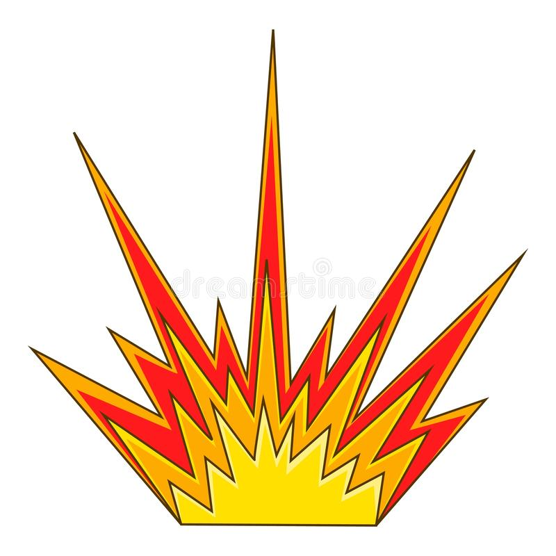 Estalle el icono de destello, estilo de la historieta ilustración del vector